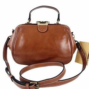 Patricia Nash Gracchi Frame Leather Crossbody Bag